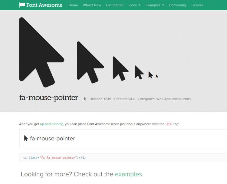 Пример html-кода иконки FontAwesome