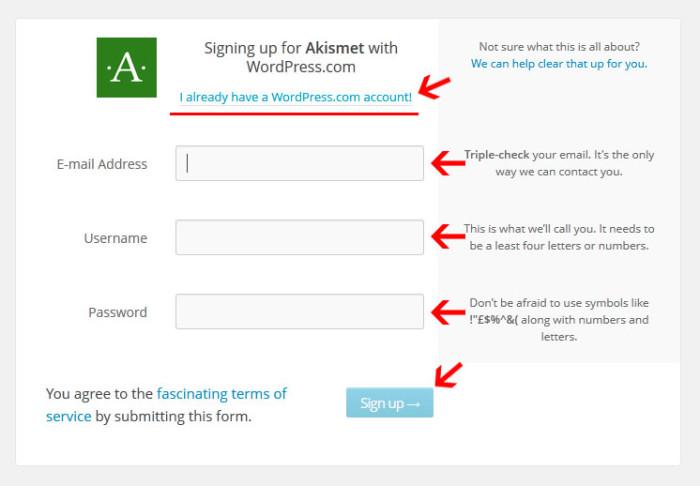 Создание аккаунта на wordpress.com - Спам в комментариях WordPress или как защитить свой сайт от спама?
