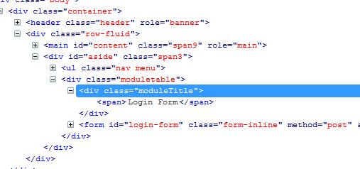 исходный код стиля модуля joomla