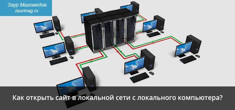 Как открыть сайт в локальной сети с локального компьютера?
