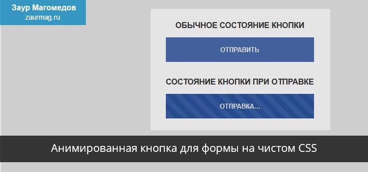 Анимированная кнопка для формы на чистом CSS
